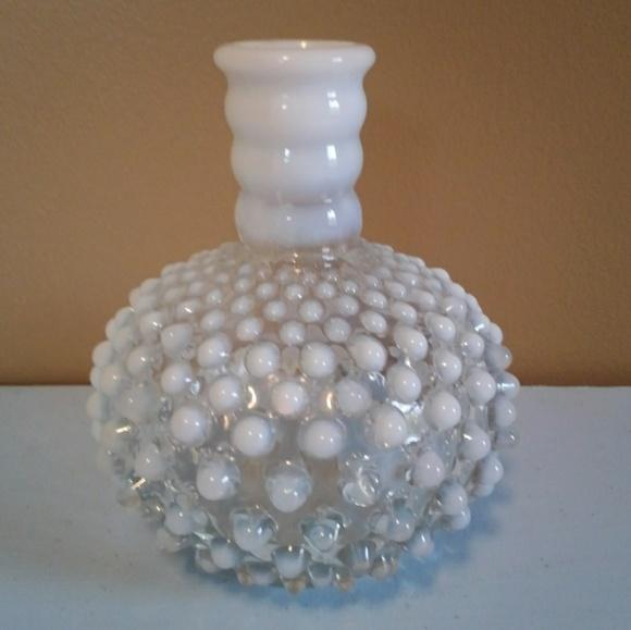 Vintage Other - Vintage Hobnail Opalescent Bottle / Vase